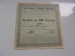 """PROGRES"" D'ORLEANSVILLE (1945) ALGERIE - Non Classificati"