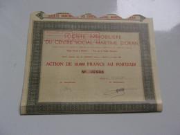 Immobiliere Du Centre Social Maritime D'oran (1951) Algérie - Non Classificati