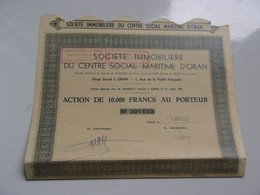 Immobiliere Du Centre Social Maritime D'oran (1952) Algérie - Non Classificati