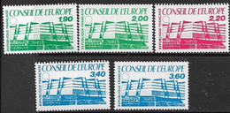 France Council Of Europe 1986-7  Sc#1o40-4 Set MNH   2016 Scott Value $6.65 - Neufs
