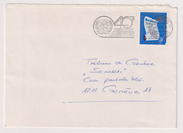 UNS14408 UN Nations Unies Geneve 1985 Cover Bearing Definitive Issue 0.5 F,S, Addressed With Slogan - Covers & Documents