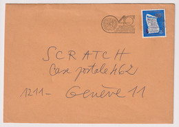 UNS14409 UN Nations Unies Geneve 1985 Cover Bearing Definitive Issue 0.5 F,S, Addressed With Slogan - Covers & Documents