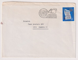 UNS14414 UN Nations Unies Geneve 1985 Cover Bearing Definitive Issue 0.5 F,S, Addressed With Slogan - Covers & Documents