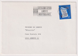 UNS14406 UN Nations Unies Geneve 1985 Cover Bearing Definitive Issue 0.5 F,S, Addressed With Slogan - Covers & Documents