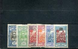 Océanie 1922-27 Yt 47-48 51-52 54 57 * - Nuevos