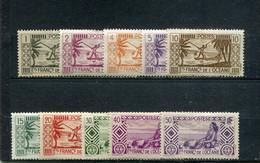 Océanie 1939-49 Yt 84-85 87-91 93 96 99 * - Nuevos