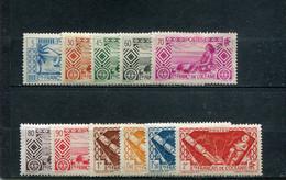 Océanie 1939-49 Yt 86 94 98 101 103 105-107 110-111 114 * - Nuevos