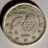 2001 -  SPAGNA -  MONETA IN EURO - DEL VALORE DI  20 CENTESIMI - USATA - Spanien