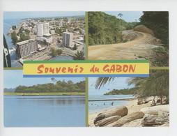 République Du Gabon , Souvenir Du Gabon : Estuaire Libreville Piste Forêt N'dendé Pirogues Lac Lambaréné Santa Clara - Gabon