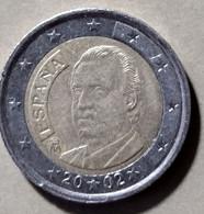 2002 -  SPAGNA -  MONETA IN EURO - DEL VALORE DI  2,00 EURO - USATA - Spanien