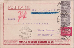 Germany, Postcard To Berlin 1930 - Pankow