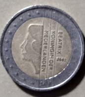 2002 -  PAESI BASSI  -  MONETA IN EURO - DEL VALORE DI 2,00  EURO  - USATA - Niederlande