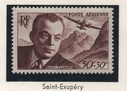 Lot De 4 Timbres Neufs Poste Aérienne 1947, 1948 & 1955 - YT PA 21, 22, 23 & 34 - St-Exupéry, Dagnaux, Ader, Bastié - 1927-1959 Ungebraucht