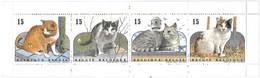 Belgique - Carnet 2521/2524** - Chats - Le Chat Européen -  C 2524 - - Année 1993 - - Unused Stamps