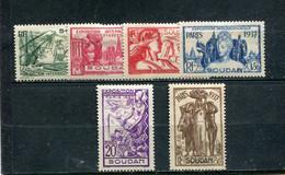 Soudan 1937 Yt 93-98 * - Nuevos