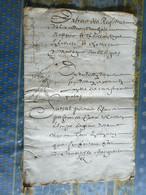MANUSCRIT SUR PAPIER 24 PAGES Daté 1664 Région Mortagne Orne - Manuscripts