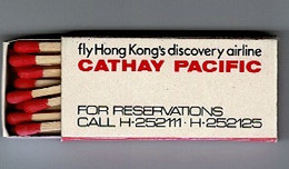 BOITE  ALLUMETTES: Empress Hotel - (  Hong Kong ) Cathay Pacific - Matchboxes