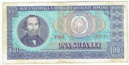 Roumanie - Billet De 100 Lei - Nicolae Balcescu - 1966 - P97a - Romania