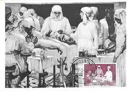 Belgique - Année 1957 Exposition Philatélique WOLUWE 22 03 58  Yv 1038 - Carte Postale école Infirmières Reine Elisabeth - Covers & Documents