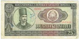 Roumanie - Billet De 25 Lei - Tudor Vladimirescu - 1966 - P95a - Romania