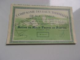 EAUX THERMALES DE BOU HANIFIA (1950) Algérie - Unclassified