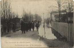 Bordeaux Les Inondations Des Allées De Boutaut  Au Pont De Larroque Les Journalistes   RV - Bordeaux
