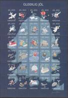 ++Q1368. Faroe Islands 2012. Christmas Seals, Complete Sheet. MNH(**) - Faroe Islands