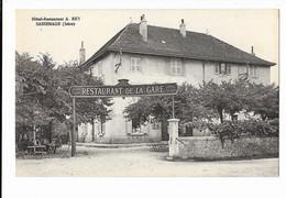 Sassenage - Hôtel-Restaurant A. Rey - Restaurant De La Gare - édit. Martinotto Frères  + Verso - Sassenage