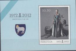 ++Faroe Islands 2012. Queen Margrethe II. Bloc. AFA 735. Michel 29. MNH(**) - Faroe Islands
