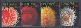 ++Faroe Islands 2012. Sea Anemones. AFA 736-39. Michel 739-42. MNH(**) - Faroe Islands