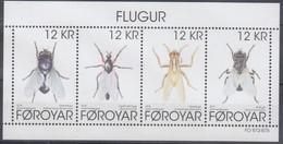 ++Faroe Islands 2018. Fauna. Flies. Bloc. AFA 903. Michel 46. MNH(**) - Faroe Islands