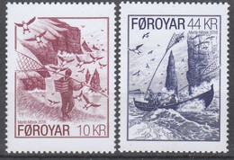 ++Faroe Islands 2018. Bird Catching. AFA 907-08. Michel 918-19. MNH(**) - Faroe Islands