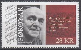 ++Faroe Islands 2018. Regin Dahl. AFA 918. Michel 934. MNH(**) - Faroe Islands