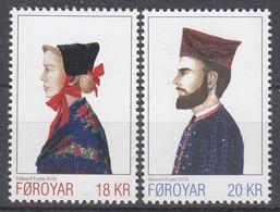 ++Faroe Islands 2018. National Costumes. AFA 919-20. Michel 935-36. MNH(**) - Faroe Islands