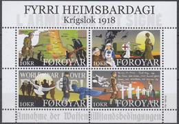 ++Faroe Islands 2018. First Worls War. Bloc. AFA 925. Michel 48. MNH(**) - Faroe Islands