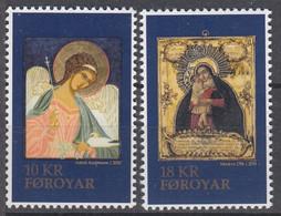 ++Faroe Islands 2018. Christmas Stamps. Icons. AFA 926-27. Michel 939-40. MNH(**) - Faroe Islands