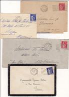FRANCE Lot De 4 Lettres 1933 à 1939 Machine FRANKERS PARIS VIII 49 RUE LA BOETIE 5 Et 6 Lignes Ondulées Sur Type Paix - Annullamenti Meccanici (pubblicitari)