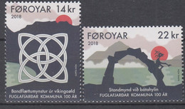 ++Faroe Islands 2018. Fuglafjardar. AFA 916-17. Michel 928-29. MNH(**) - Faroe Islands