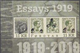 ++Faroe Islands 2019. Essays 1919. Bloc. AFA 930. Michel 49. MNH(**) - Faroe Islands