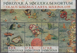 ++Faroe Islands 2019. Historic Maps. Bloc. AFA 934. Michel 50. MNH(**) - Faroe Islands