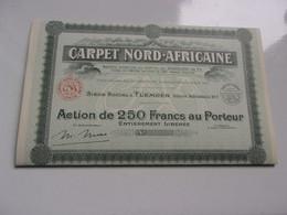 CARPET NORD-AFRICAINE (250 Francs) TLEMCEN ALGERIE (1947) - Unclassified