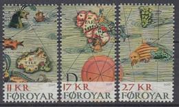 ++Faroe Islands 2019. Historic Maps. AFA 931-33. Michel 943-45A. MNH(**) - Faroe Islands