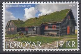 ++Faroe Islands 2019. SEPAC. Old Living Houses. AFA 937. Michel 950. MNH(**) - Faroe Islands