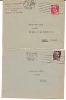 FRANCE Lettre 1946 Machine FRANKERS SECAP 80 AMIENS GARE SOMME Sur Gandon - Annullamenti Meccanici (pubblicitari)