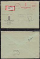 BRD Bund 1957 90Pf Einschreiben Brief AFS Meter Freistempler DRESDNER Bank Köln Nach Wien Austria - Storia Postale