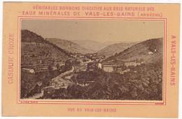 Ardèche : VALS Les BAINS : Casimir CROZES - Confiseur à Vals Les Bains : Carte Publicitaire : Bonbon : 12,7cm X 8,2cm - Vals Les Bains