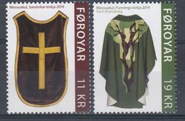 ++Faroe Islands 2019. Chasubles. AFA 952-53. Michel 964-65. MNH(**) - Faroe Islands