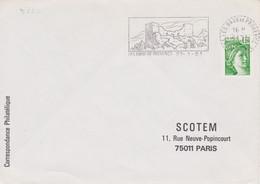 FRANCE Lettre 1981 Machine SECAP TàD Tireté 13 LES BAUX DE PROVENCE Sur Sabine 1,20 PNU Flamme Château Féodal - Annullamenti Meccanici (pubblicitari)