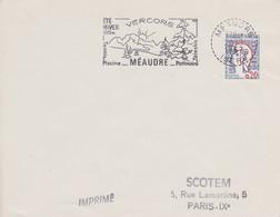FRANCE Lettre 1967 Machine SECAP TàD Tireté 38 MEAUDRE ISERE Sur Marianne De Cocteau 0,20 Flamme Sapins Soleil - Annullamenti Meccanici (pubblicitari)