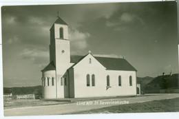 Linz 1954; St. Severin(s?)kirche - Gelaufen. (Alois Schwarz - Linz) - Linz